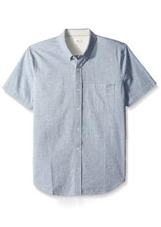 AG Adriano Goldschmied Men's Nash S/s Shirt Sailor Blue NEP