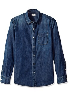 AG Adriano Goldschmied Men's Nelson Long Sleeve Denim Shirt  XXL