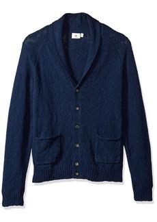 AG Adriano Goldschmied Men's Oslo Shawl Slub Cotton Sweater Cardigan  L