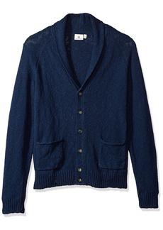 AG Adriano Goldschmied Men's Oslo Shawl Slub Cotton Sweater Cardigan  S