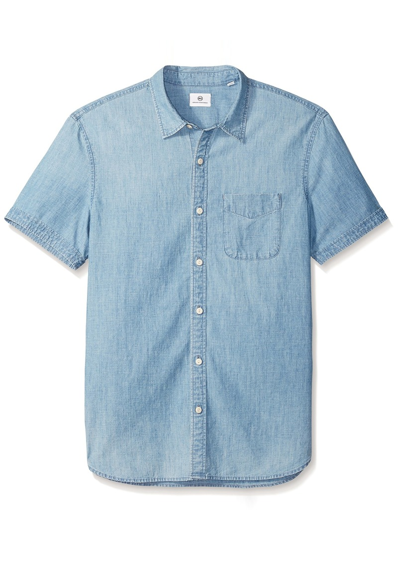 AG Adriano Goldschmied Men's Pearson Short Sleeve Button Down