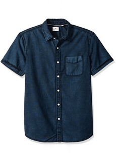 AG Adriano Goldschmied Men's Pearson Short Sleeve Button Down Oxford  L