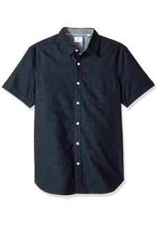 AG Adriano Goldschmied Men's Pearson Short Sleeve Print Button Down Shirt  M