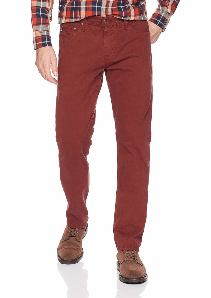 AG Adriano Goldschmied Men's The Graduate Tailored Leg SUD Pant TANNIC red 38X34