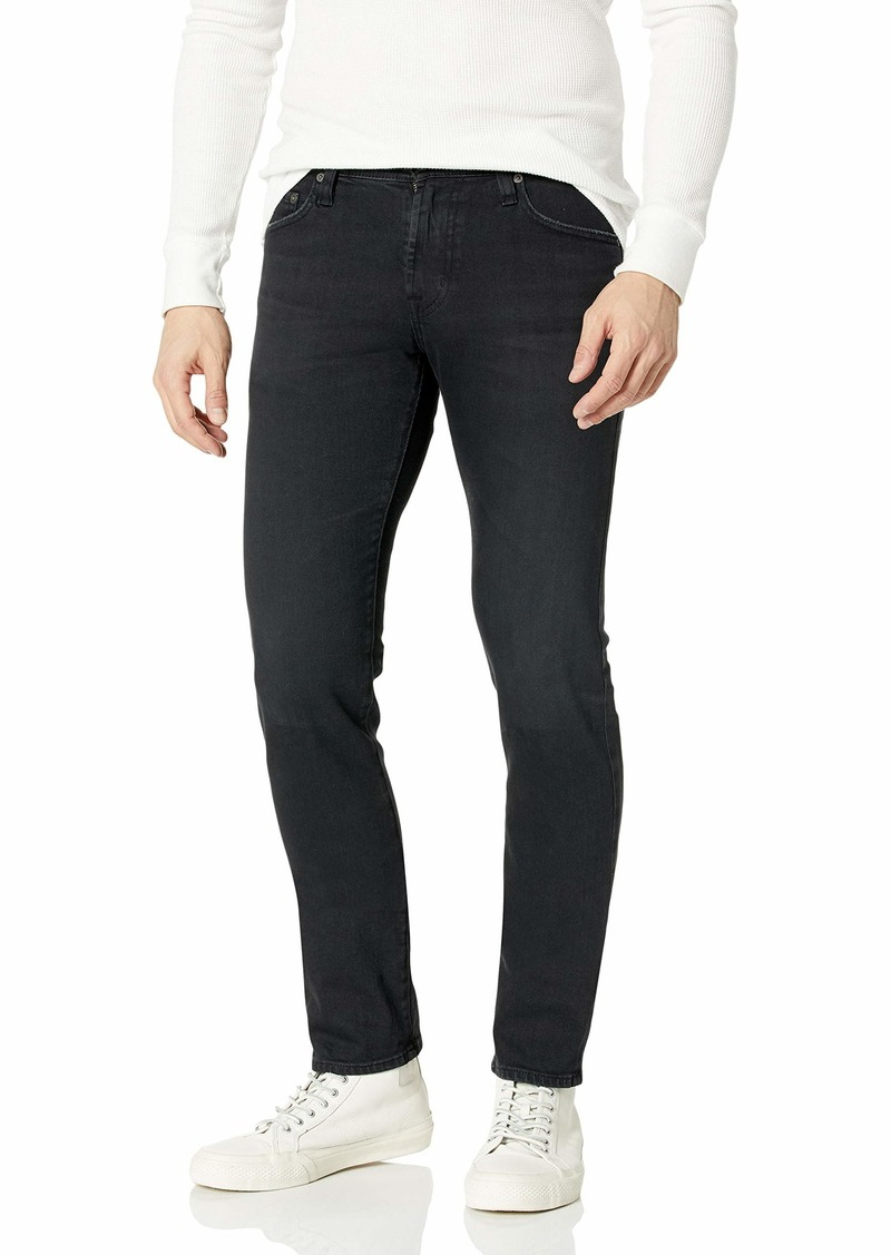 AG Adriano Goldschmied Men's The Tellis Modern Slim Leg Denim Jean 7 Years pure black