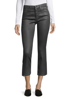 AG Adriano Goldschmied Mid-Rise Cropped Jeans