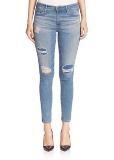 Middi Distressed Ankle Jeans