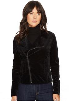 Quincy Biker Jacket in True Black