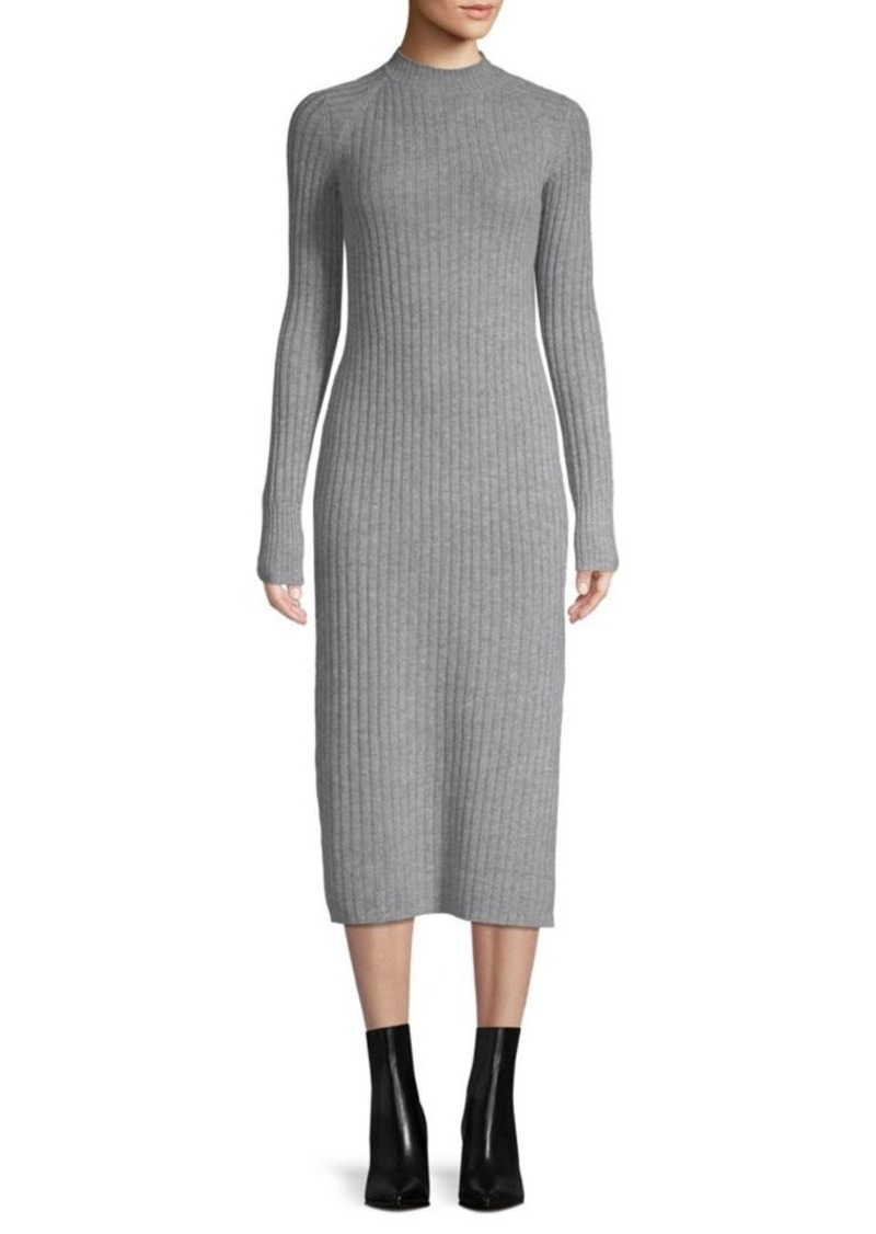 AG Adriano Goldschmied Reign Cashmere & Wool Ribbed Midi Dress