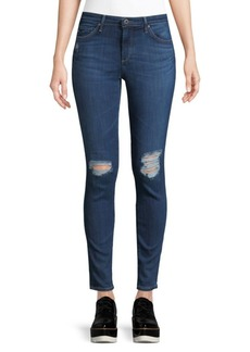 AG Adriano Goldschmied Ripped Ankle-Length Jean Leggings