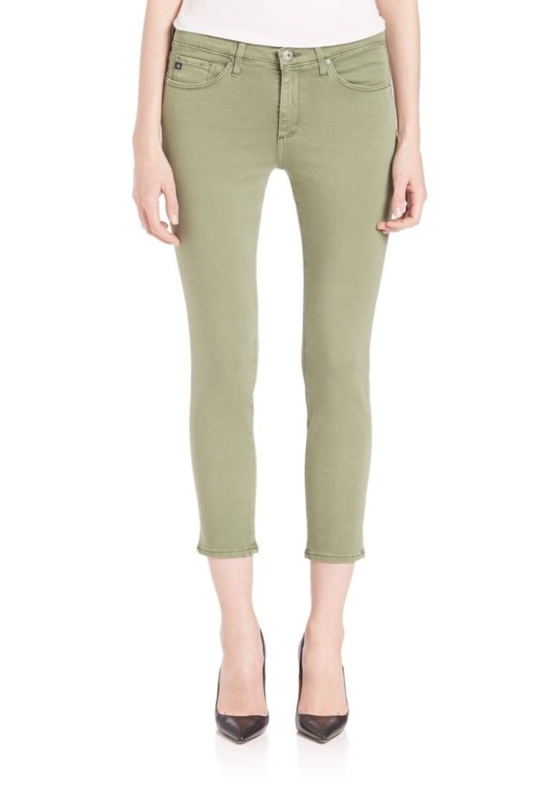 AG Adriano Goldschmied Sateen Prima Mid-Rise Crop Jeans