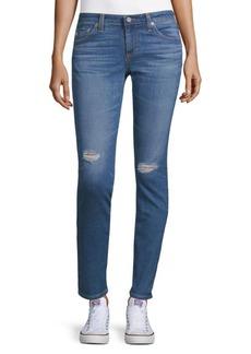 AG Adriano Goldschmied Skinny Rip Jeans