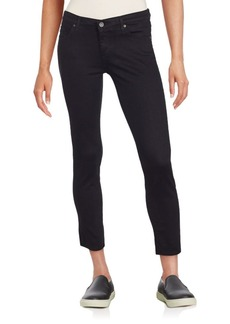 AG Adriano Goldschmied Solid Cropped Jeans