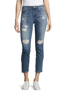 AG Adriano Goldschmied Stilt Distressed Cigarette Jeans