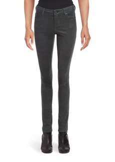 AG Adriano Goldschmied Suede Five-Pocket Jeggings