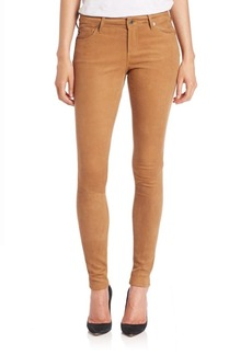 AG Adriano Goldschmied Suede Legging Jeans