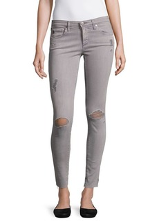 AG Adriano Goldschmied Super Skinny Distressed Ankle Leggings