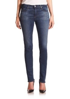 AG Adriano Goldschmied The Harper Mid-Rise Straight-Leg Jeans