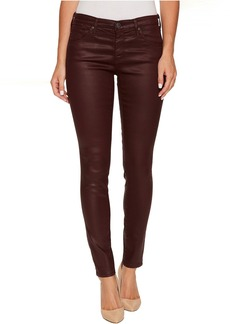 AG Adriano Goldschmied The Leggings Ankle in Leatherette Light Deep Currant