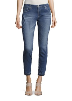 AG Adriano Goldschmied Whiskered Ankle-Length Jeans