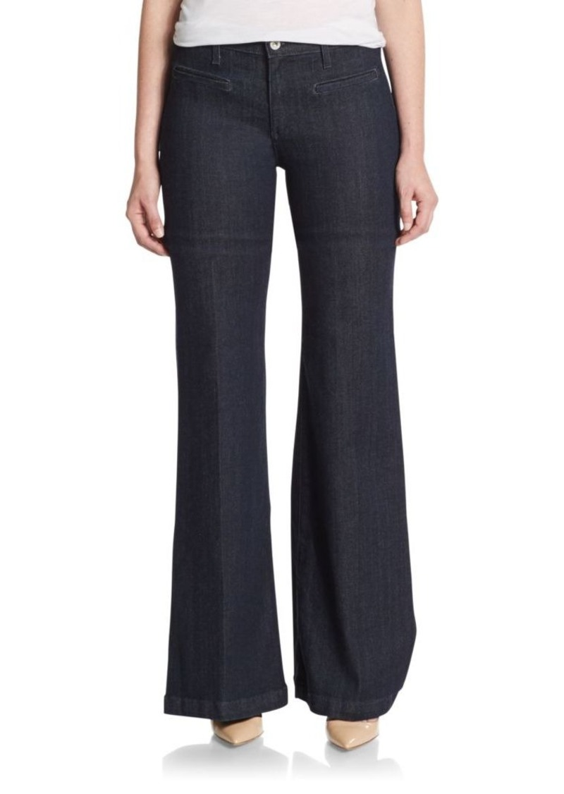 AG Adriano Goldschmied Wide-Leg Flared Jeans