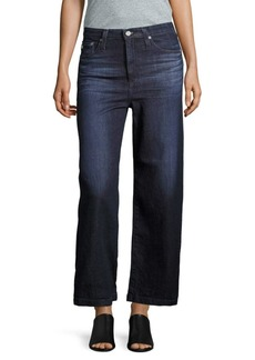 AG Adriano Goldschmied Wide-Legged High-Rise Denim Jeans