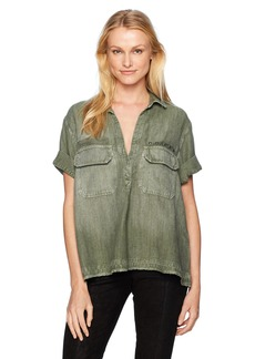AG Adriano Goldschmied Women's Anson Top Sulfur Climbing IVY