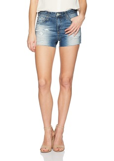 AG Adriano Goldschmied Women's Brynn Denim Destructed Short
