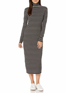 AG Adriano Goldschmied Women's Chelden Dress True Black/Ivory dust