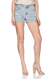 AG Adriano Goldschmied Women's Denim Hailey EX-Boyfriend Roll-up Short