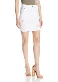 AG Adriano Goldschmied Women's Erin White Jean Pencil Skirt