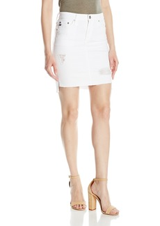 AG Adriano Goldschmied Women's Erin White Jean Pencil Skirt Intuition