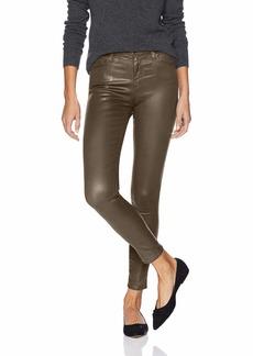 AG Adriano Goldschmied Women's Farrah Leatherette High-Rise Skinny Fit Ankle Pant Vintage LTT Light Dark Bayou