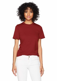 AG Adriano Goldschmied Women's Gray BOY TEE TANNIC red