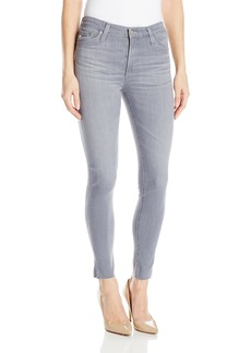 AG Adriano Goldschmied Women's Grey Farrah Skinny Crop Jean