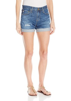 AG Adriano Goldschmied Women's Hailey Ex Boyfriend Roll up Jean Short in 9