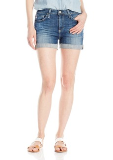 AG Adriano Goldschmied Women's Hailey Exboyfriend Roll up Jean Short