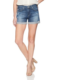 AG Adriano Goldschmied Women's Hailey Roll-Up Denim Short