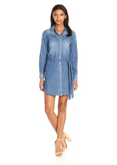 afc797120b33 AG Adriano Goldschmied AG Sydney Sleeveless Button-Down Denim Dress ...