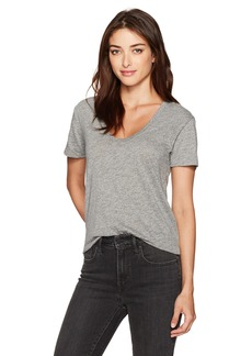 AG Adriano Goldschmied Women's Henson Speckled Heather Tee Grey