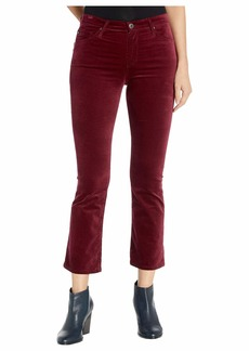 AG Adriano Goldschmied Women's High-Rise Slim Flare Velvet Jodi Crop