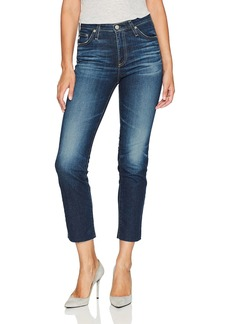 AG Adriano Goldschmied Women's Isabelle High Rise Straight Crop Jean 9 Years-Amendment