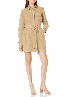 AG Adriano Goldschmied Women's Justine Woven Military Style Button Down Dress  XS
