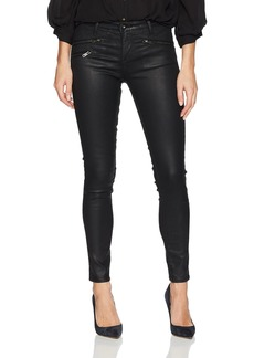 AG Adriano Goldschmied Women's Leatherette Legging Ankle Moto lt-Super Black