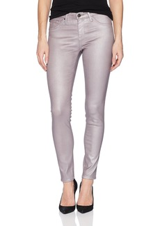 AG Adriano Goldschmied Women's Legging Anke Metallic Leatherette Powder Pink