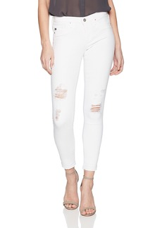 AG Adriano Goldschmied Women's Legging Ankle Letdown Hem rudimentary White