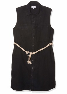 AG Adriano Goldschmied Women's Marie Sleeveless Workwear Dress  XL