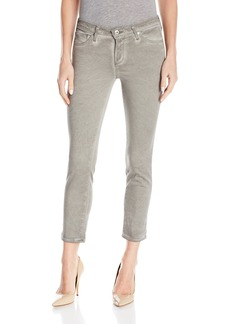 AG Adriano Goldschmied Women's Prima Crop Mid Rise Cigarette Jean in Sea Soaked Sage