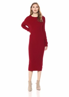 AG Adriano Goldschmied Women's Quaid Raglan Dress red Amaryllis Extra Large