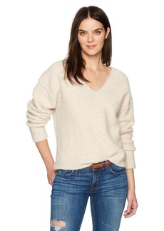 AG Adriano Goldschmied Women's Skye V Neck Sweater  M